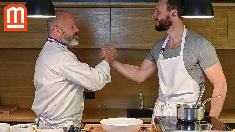 recette-youtube-ravioles-bouillon-légumes-oeuf-poché-chef-philippe-etchebest